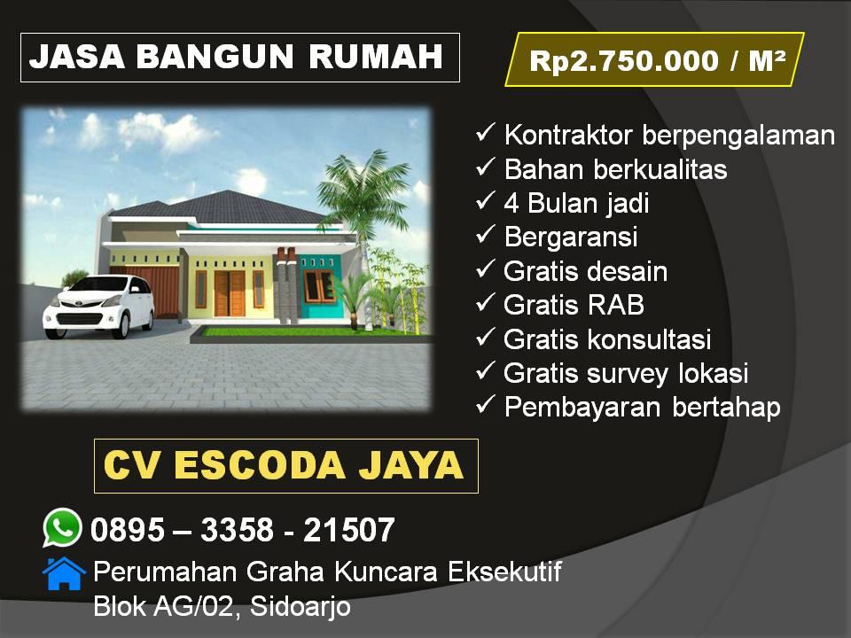 Kontraktor jasa bangun rumah Surabaya Sidoarjo Gresik Pasuruan Jombang Mojokerto